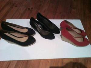 3 pairs of good wedge shoes for $25.00 Nairne Mount Barker Area Preview