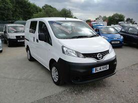 2014 Nissan NV200 1.5 dCi Acenta CREW VAN (5-SEATER). Only 17,000 miles.