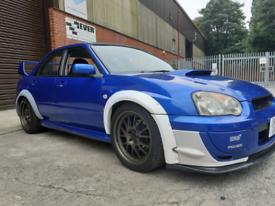 Subaru impreza wrx with wr1 sti engine highly modified