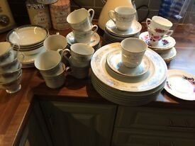 Vintage / Shabby Chic assorted Tea Cups & accessories