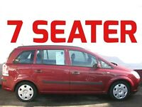 7 SEATER 2006 VAUXHALL ZAFIRA 1.6 LIFE LONG MOT £200 OFF FOR NO P/EXCHANGE