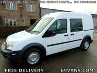 2012 12 FORD TRANSIT CONNECT LWB, 5 SEATS, CREW VAN, MPV, 1 OWNER, EX-POLICE