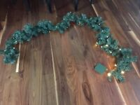 4 pre lit battery operated christmas garland