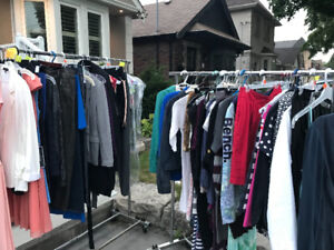 Garage sale with tons of brand name women's clothing-Leaside
