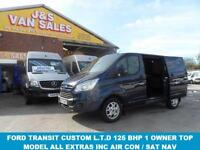 2013 63 FORD TRANSIT CUSTOM 2.2 290 LIMITED LR P/V 1D 125 BHP 1 OWNER ONLY IN PE