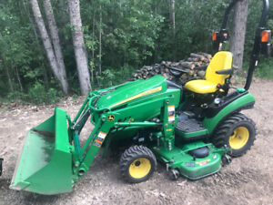 John Deere 1025R Acreage Tractor with Snow Blower & Attachments
