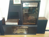 FREE black entertainment unit with glass door