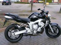 Yamaha FZ6 Fazer 2005 8k naked 98bhp Black Beauty HPI clear new MOT
