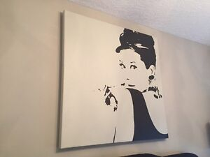 Audrey Hepburn Print on Canvas - IKEA Kitchener / Waterloo Kitchener Area image 1