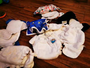 Lot of cloth diapers rarely used