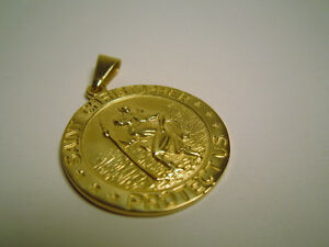 10k Gold St. Christopher Pendant