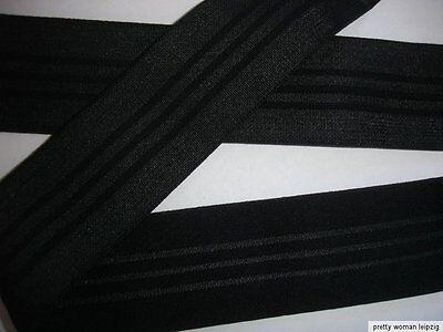 10m Gummiband 0,45€/m Bündchengummi schwarz 34mm breit TA50