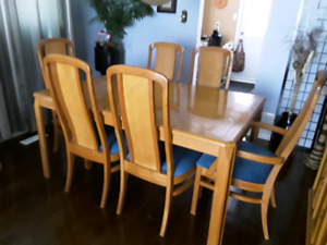 Oak Dining Set and China Cabinet