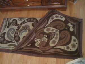 DOUBLE-SIDED BROWN-TONED  SOFT FLUFFY NAPPED BLANKET