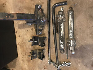 Towing trailer sway bar set