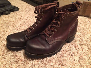 7D Brown Leather Dayton Boots