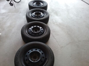 4 tires and rims .