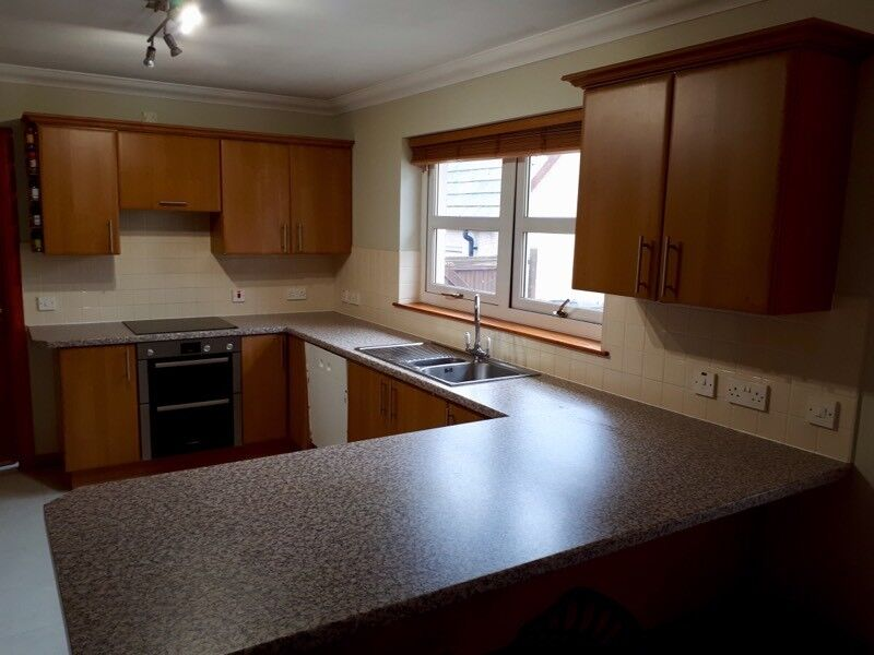 Magnificent Must Go Today Cherry Kitchen Cabinets Worktop Sinks In Peterhead Aberdeenshire Gumtree Complete Home Design Collection Barbaintelli Responsecom