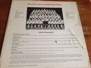 Ultra rare The choir of Essex district high school 1964 Vinyl