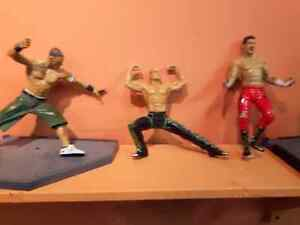 Assorted wrestlers  with stands and accessories