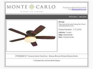 Bronze Ceiling Fan