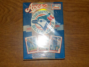 8 decks un-opened 1985-1995 bicycle bluejays playing cards
