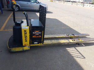 "2010 Electric Hyster B80ZAC Rider Double Pallet Jack/27""X96""Fork"