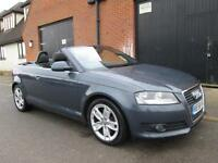 2009 AUDI A3 CABRIOLET CONVERTIBLE 2.0TFSI S TRONIC AUTOMATIC PETROL SPORT