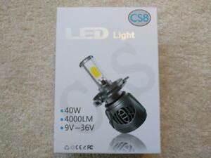 LED Head Lamp Kit, Bright White Light, available for most cars.