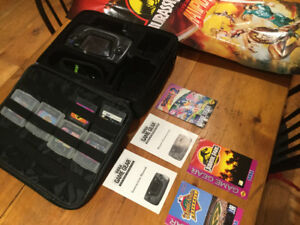 Sega game gear, 6 games, manuals, posters and case - $40 for LOT
