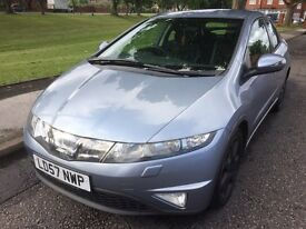 2007 HONDA CIVIC IDI EX 5DOOR 2.2 DIESEL ONE FORMER KEEPER LONG MOT SATNAV 6 SPEED GEARBOX***
