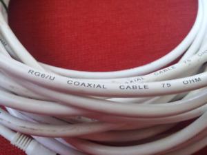 50 ft RG6/U coaxial tv cable