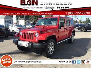 2014 Jeep Wrangler Unlimited Sahara**Leather,Htd Seats,Mint***