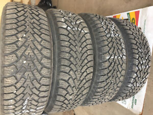 Goodyear Nordic winter tires 235/55R18 with rims 5x114.3