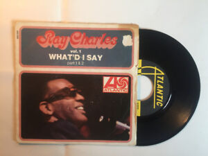 RAY CHARLES VOL1 WHAT D I SAY LP 45 RECORD VG+