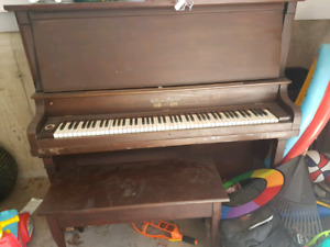 Free Upright Piano + Bench