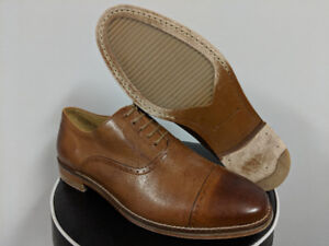 Cole Haan Brown Brogues Leather Oxford Cap Toe Dress Shoes SZ 8W