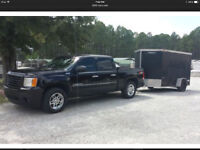 Truck & Enclosed Trailer