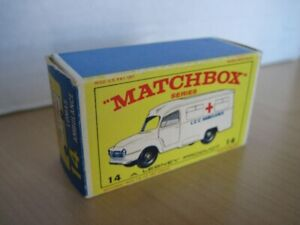 Matchbox no.14, Lomas ambulance avec la boite