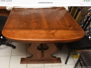 Rustic wooden kitchen table