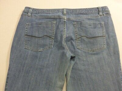 079 WOMENS EX-COND JAG MID RISE ANKLE GRAZER STRETCH JEANS SZE 16 SHORT $90 RRP.