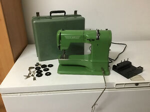 Reduced 1953 ELNA Supermatic portable sewing machine