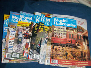 LOT OF 10 MODEL RAILROADER MAGAZINES-1990'S-TRAINS-TOYS