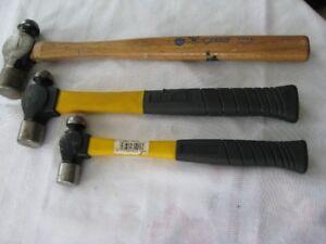 3 marteaux de mécanicien ( 2 neufs )