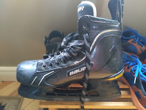 Patin Haute game Bauer Supreme total one  avec lame carbone