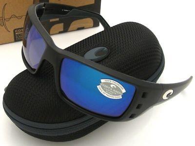 NEW Costa Del Mar PERMIT Black & 580 Blue Mirror Glass 580G