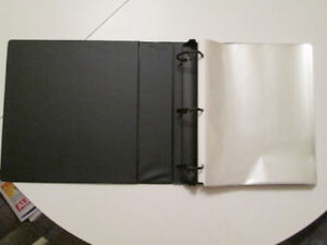 Binder with Over 180 sheets of clear Page Protectors