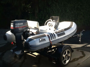11 FT TENDER WITH 30 HP YAMAHA
