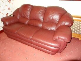 Leather sofa suite, 3 seater and two 2 seaters. They are in fair condition cost over £2000. £150 ono