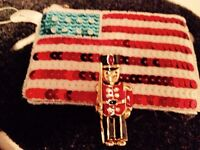 Britain flag beautiful coin purse &Brand new coat pin $5